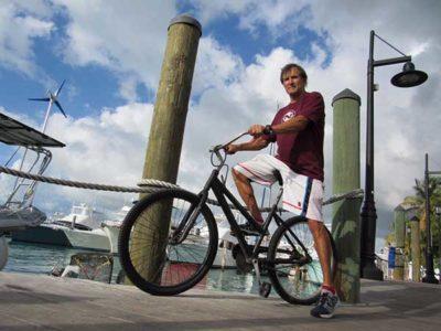Dan Tito Davis Riding Bike