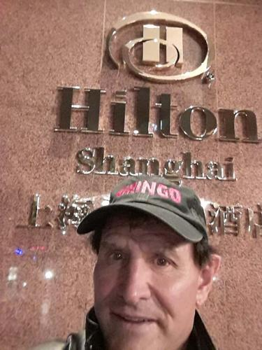 Gringo in Shanghai, China (Hilton Hotel)