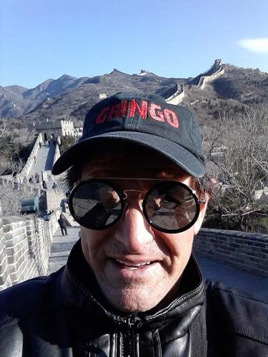 Gringo on the Great Wall of China