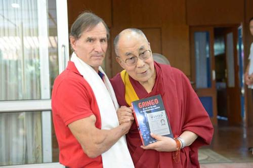 "Dan ""Tito"" Davis meets His Holiness the Dalai Lama, Dharamsala, India"