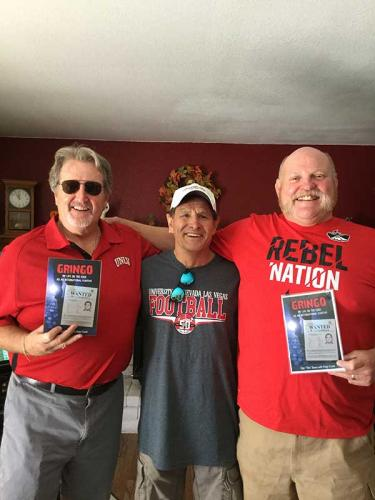 Dan Tito Davis, with Hugh Cunningham and Kevin Gray, UNLV classmates and Football Stars