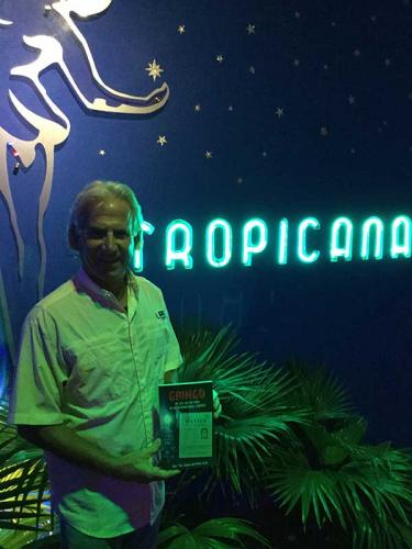 Pickleball Star with GRINGO, at The Tropicana, Havana, Cuba