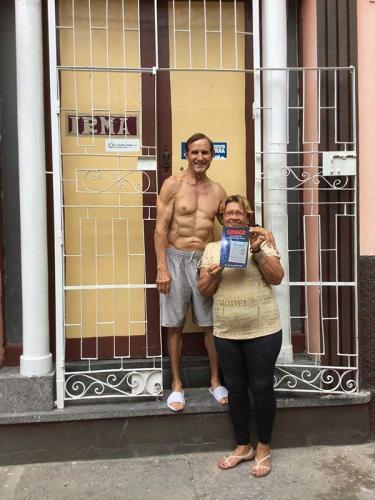 Dan Tito Davis and house employee where I rented a room, Santiago de Cuba, 2017