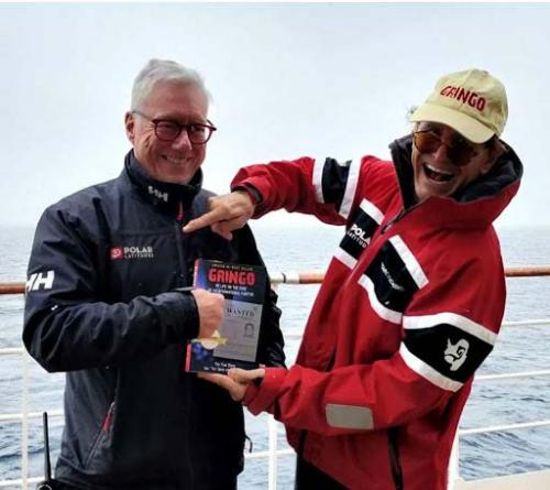 Dan Tito Davis in Antarctica with Polar Latitudes President John McKeon