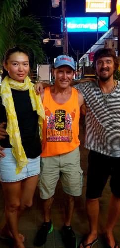 Dan Tito Davis in Costa Rica with old Russian kitesurfing buddies