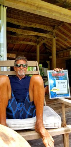 """Dan Tito Davis, with Legend: Warren """"Blackie""""Anderson,  in Indonesia"""