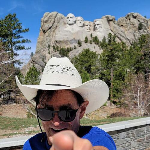 At Mt. Rushmore National Memorial, Black Hills of South Dakota